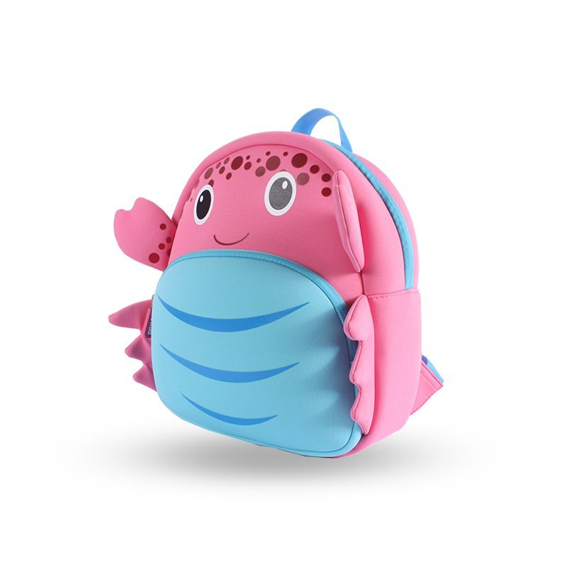 NH027 Crab customized 3d cartoon animal shape backpack for boys and girls  NH027