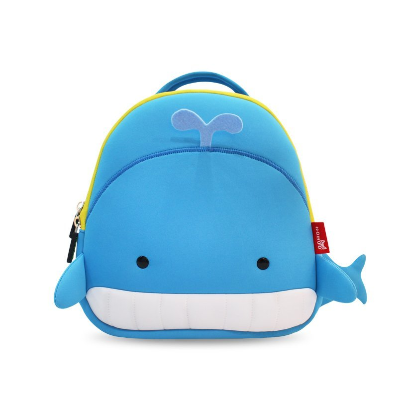 NH025 Soft and light weight Cute Whale Design kids rucksack for toddler