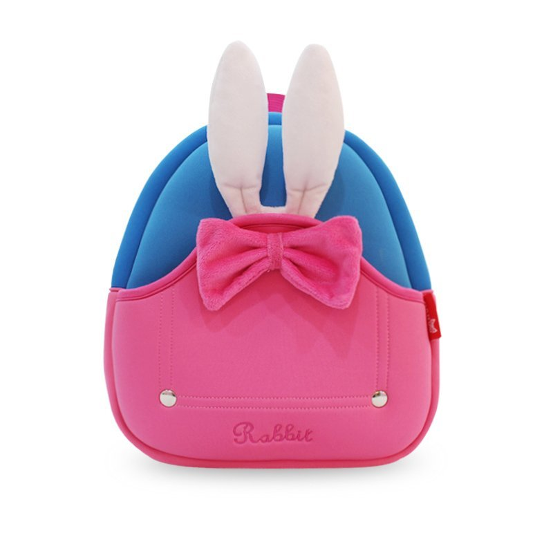 NH031  Neoprene eco friendly Toddler Backpack 3D Rabbit Backpack for Girl