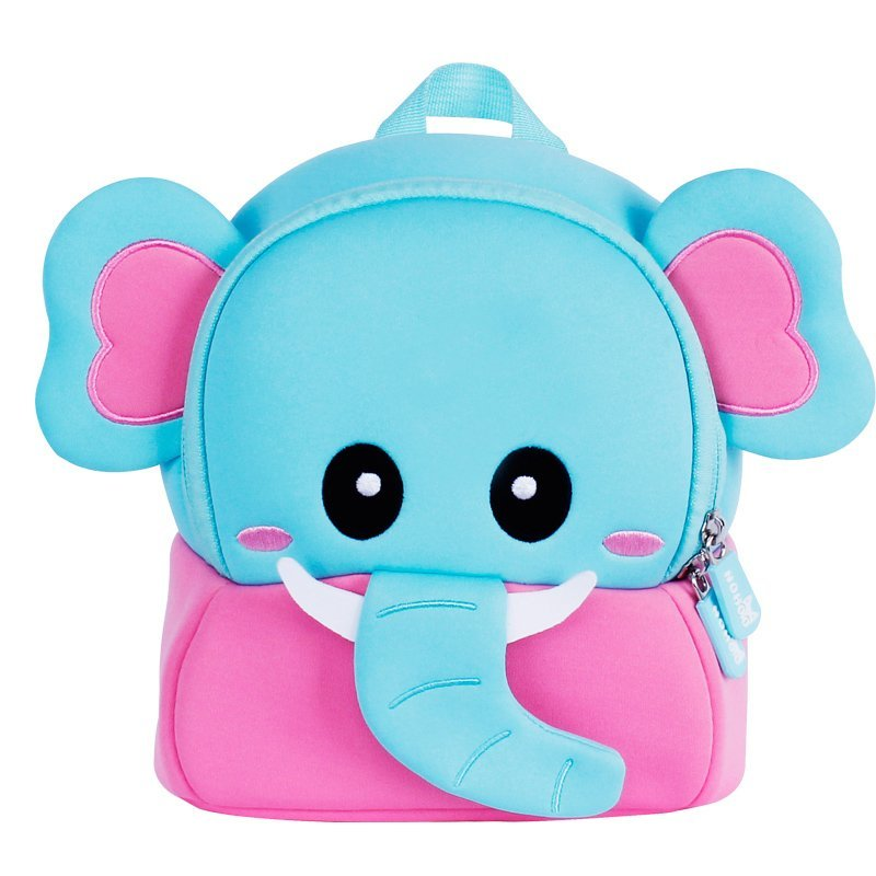 NH058  New arrival elephant cute neoprene animal 3D kindergarten backpack
