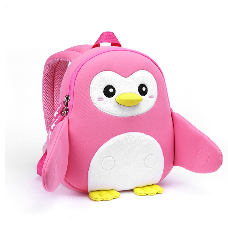 NH065  Penguin Little Kids School Bag lightweight plush Toddler Backpack warm hand