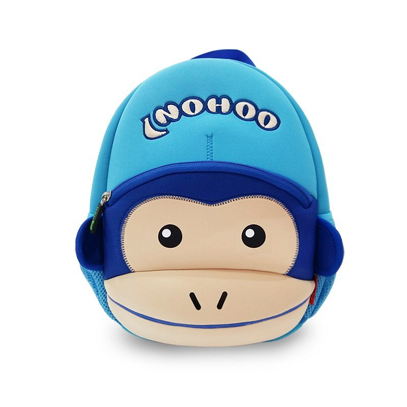 NH021 Funny monkey style waterproof neoprene lovely backpack for kids
