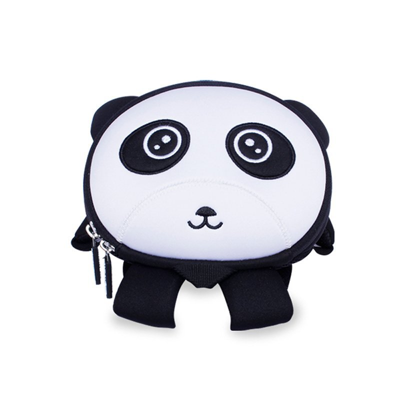 NH043 OEM high quality carton neoprene anti lost panda backpack for little baby
