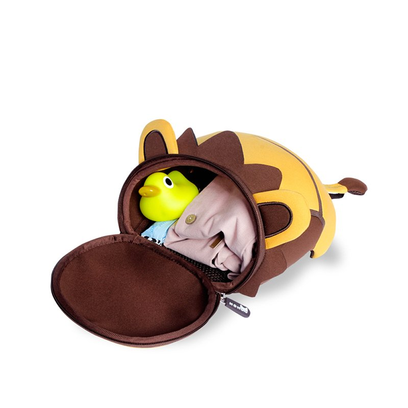 NH053 Lion cute soft bags cartoon anti lost children 3D bag with rope