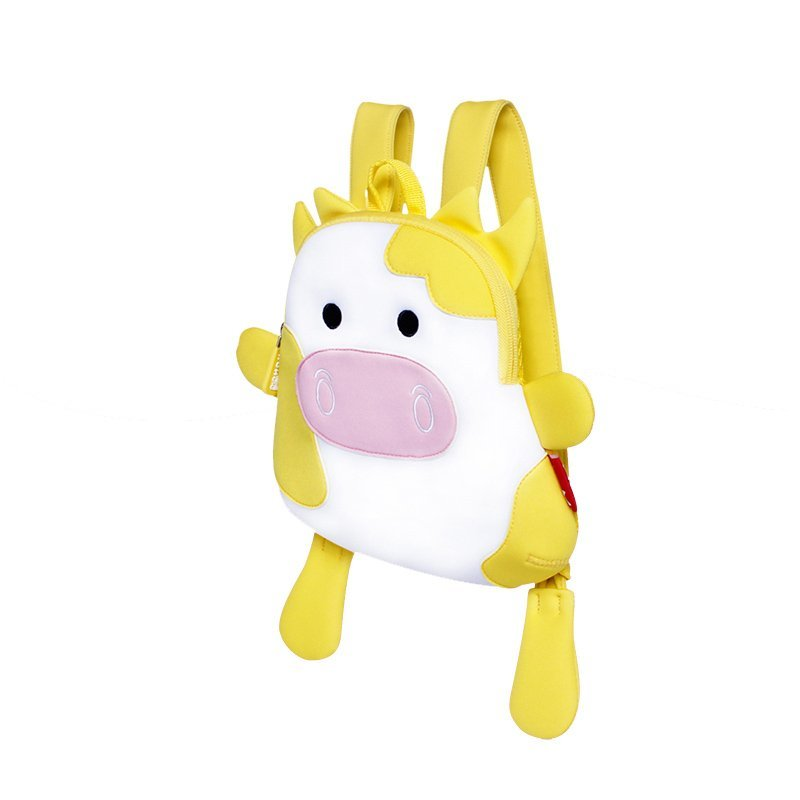 NH054 cow Neoprene Animal Children Bag Toddlers Daily Backpack