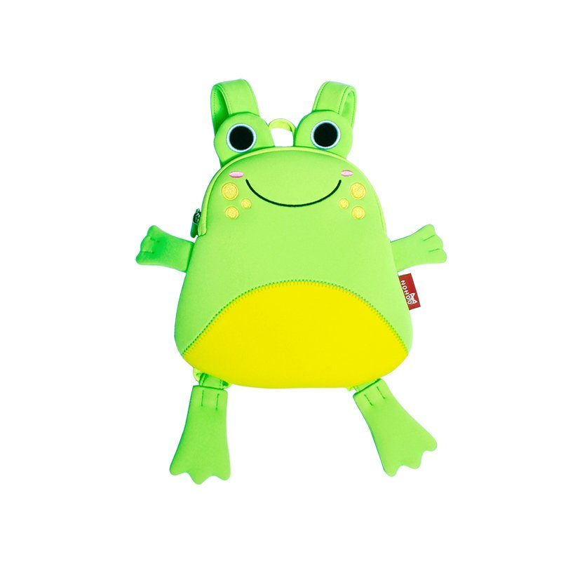 NH056 Lightweight small backpack Animal shape cute frog bag for little kids