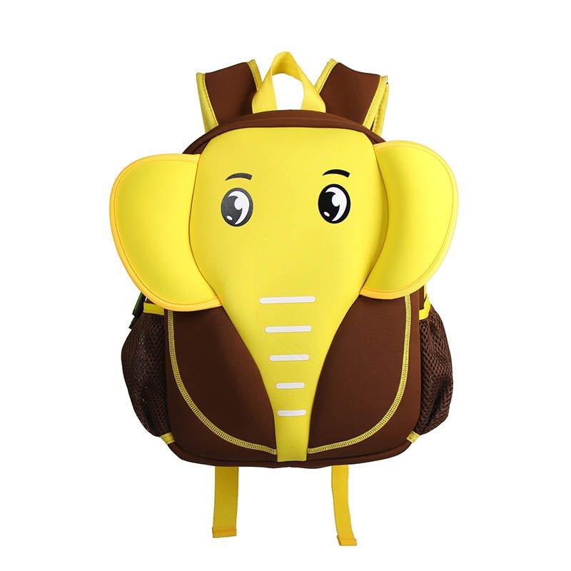 Elephant style waterproof kids cute neoprene children school bag