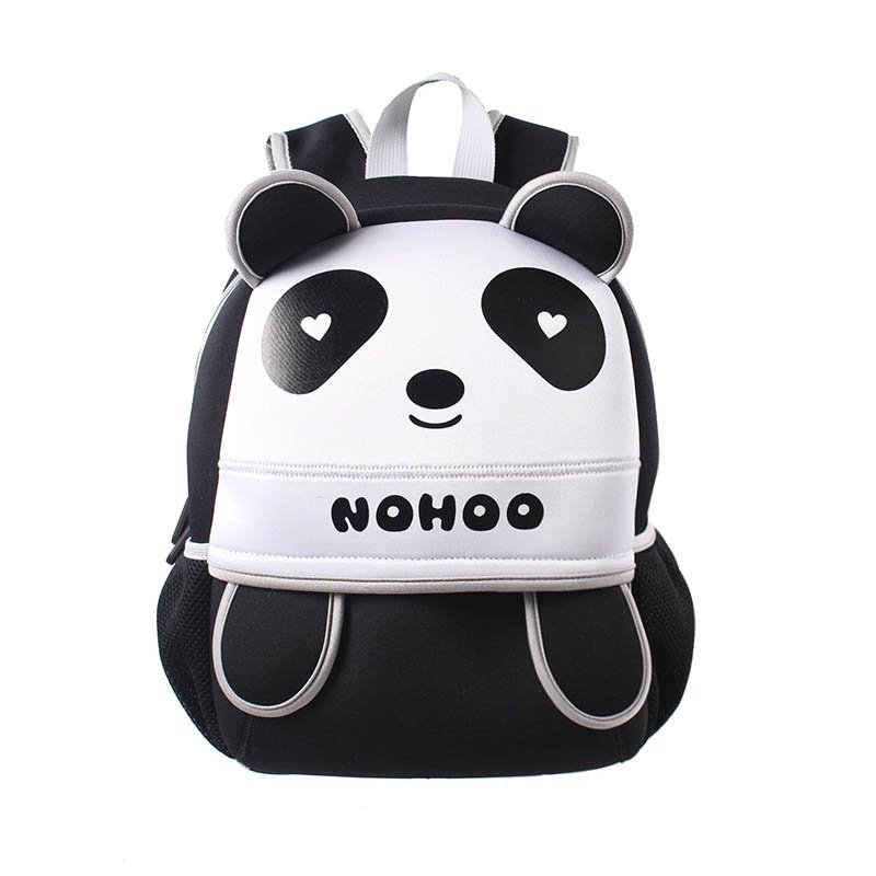 Neoprene lovely style kids bag 3D panda children hiking school bags