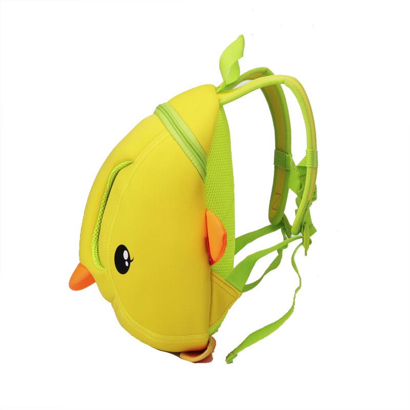 NH017 Lovely cartoon Kids daily bag Duck 3D Shape kindergarten bag for children
