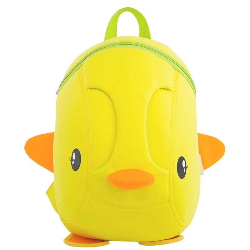 Lovely cartoon Kids daily bag Duck 3D Shape kindergarten bag for children