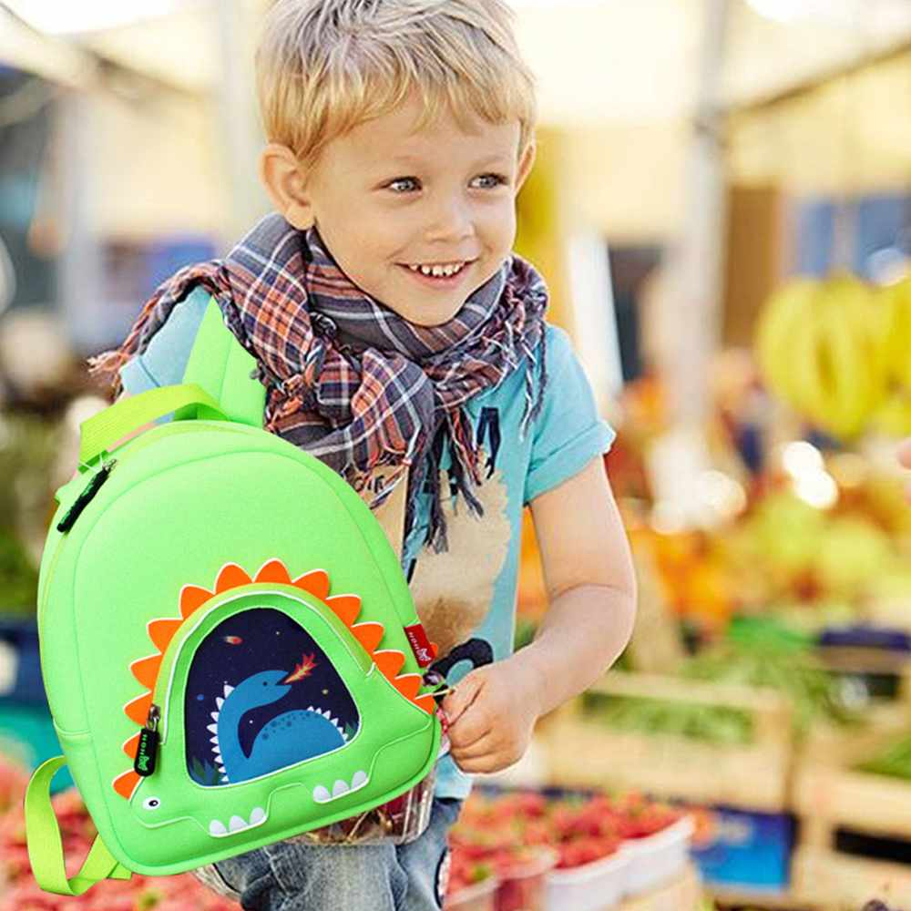 Hot sell neoprene children backpack top quality dinosaur kindergarten bag