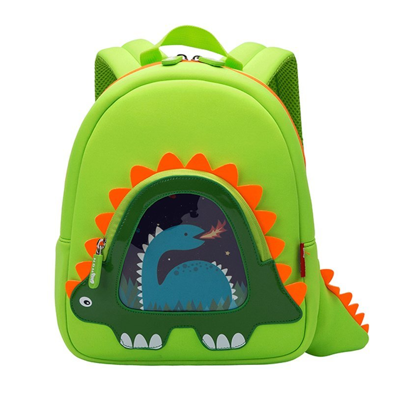 Hot sell neoprene children backpack top quality dinosaur kindergarten bag