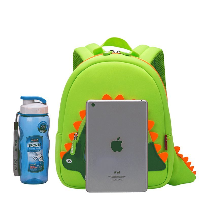 NH026 Hotsellneoprenechildrenbackpacktopqualitydinosaurkindergartenbag
