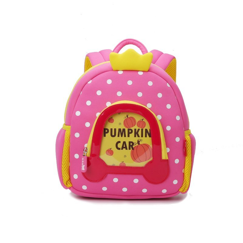 NH032 Lovely design Cartoon Kids Backpack neoprene kindergarten bag for girls