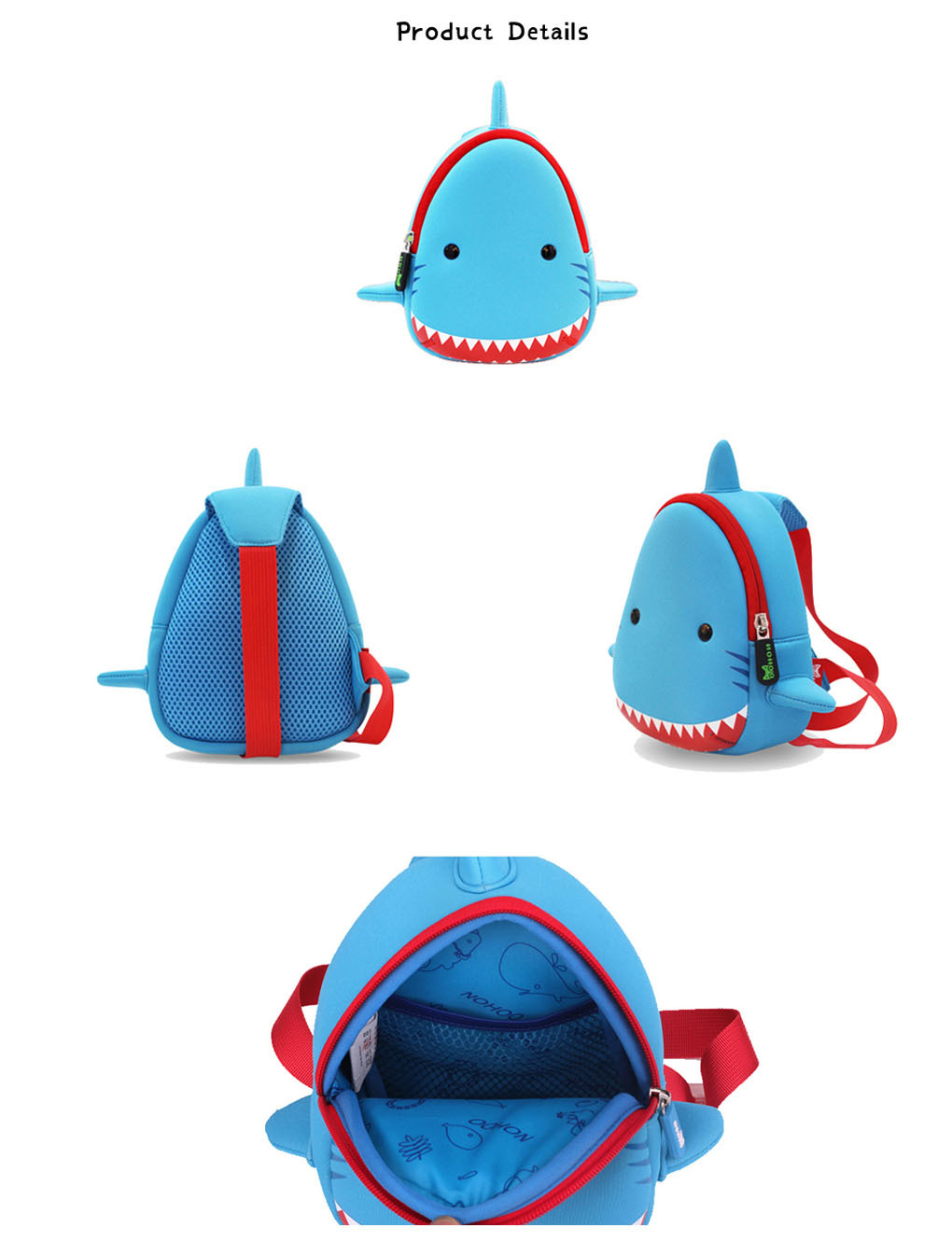 Custom children animal kids sling backpack Nohoo Children Products ultralight