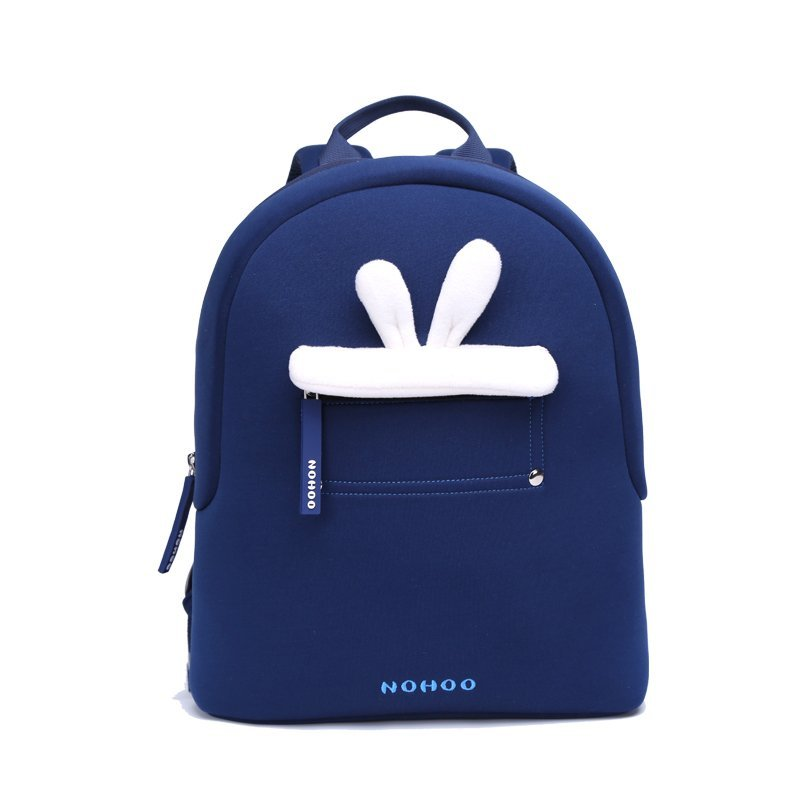 Blue rabbit plush Kids Backpack Preschool Boys Girls family backpack