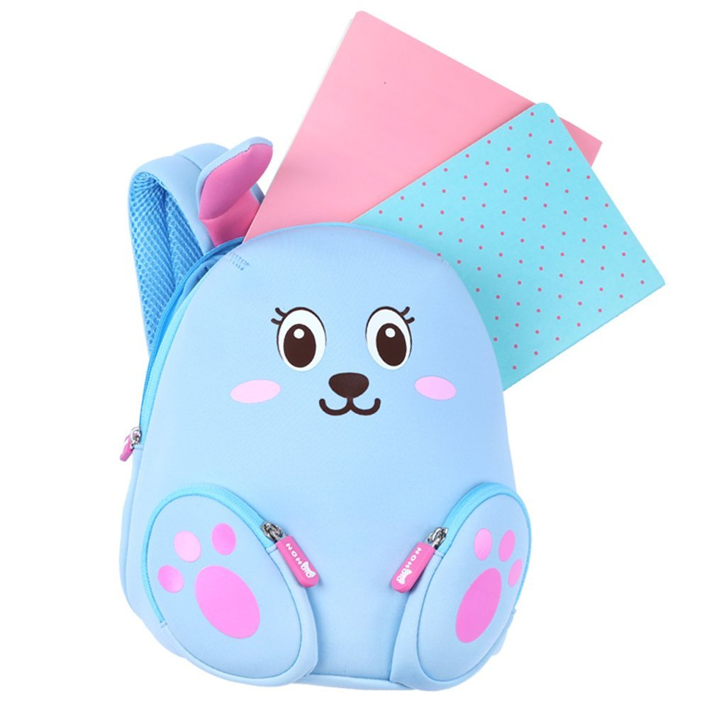NH044 blue Rabbit Neoprene Kids Cartoon Backpacks for Children