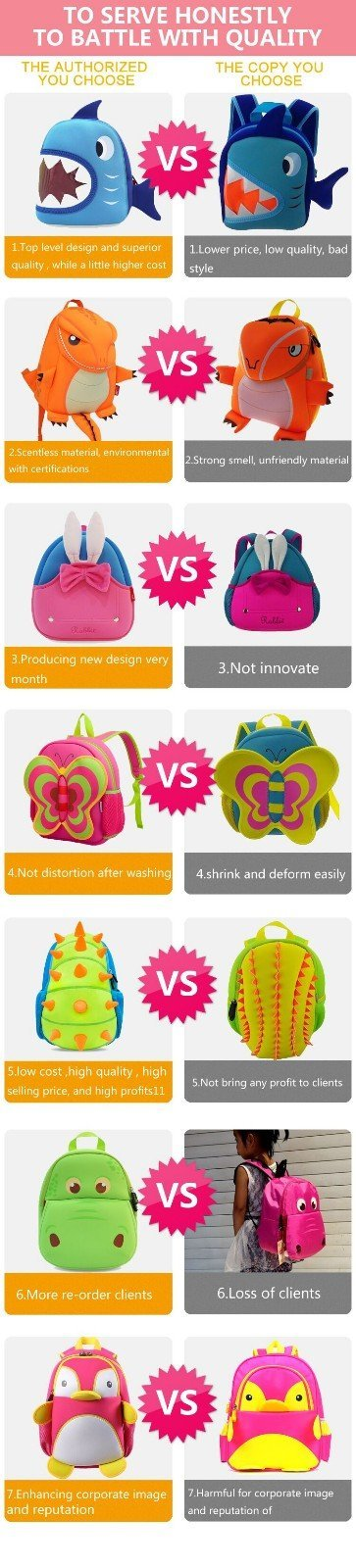 lightweight girl design toddler boy backpack Nohoo Children Products Brand