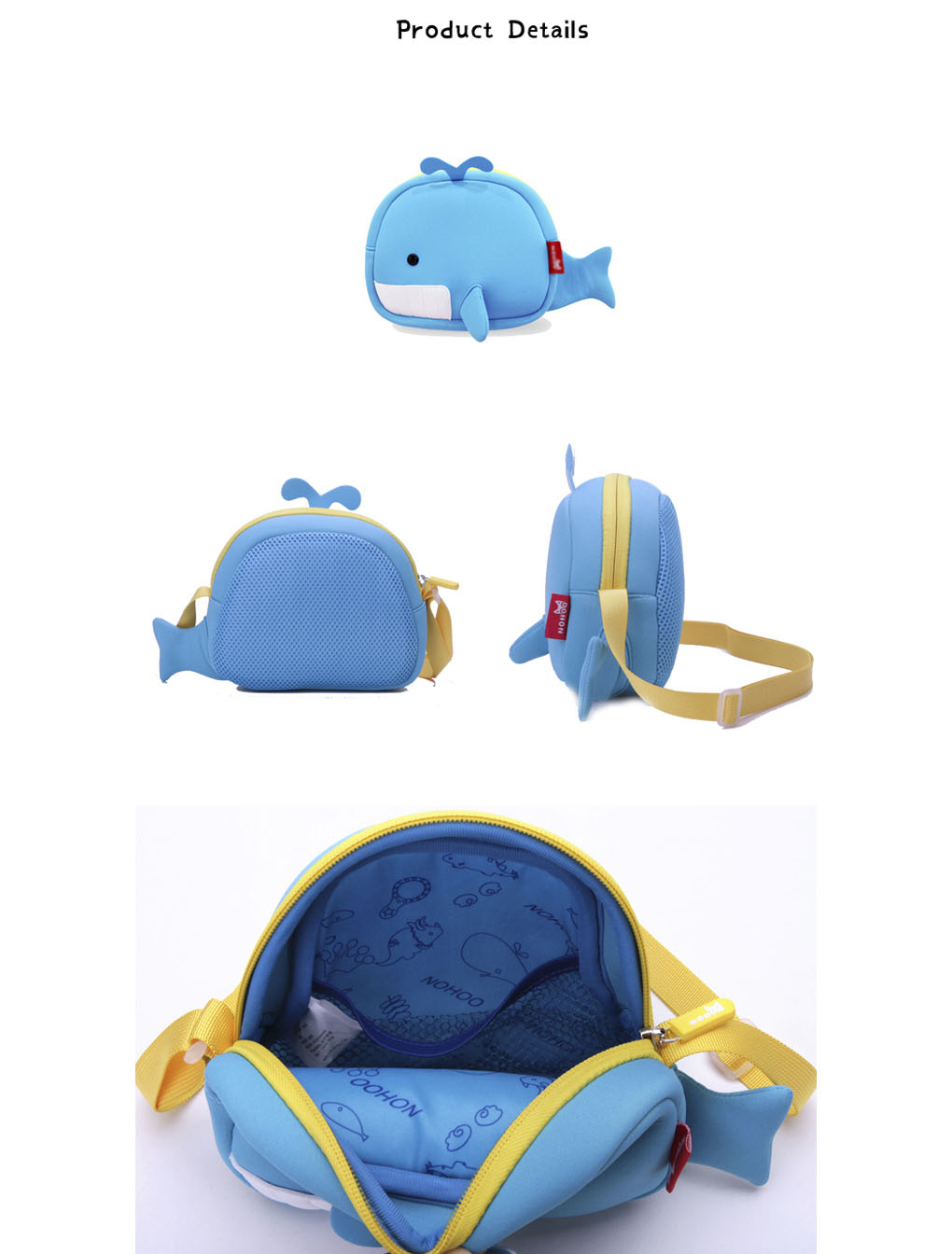 Wholesale unisex personalized messenger bags Nohoo Children Products Brand