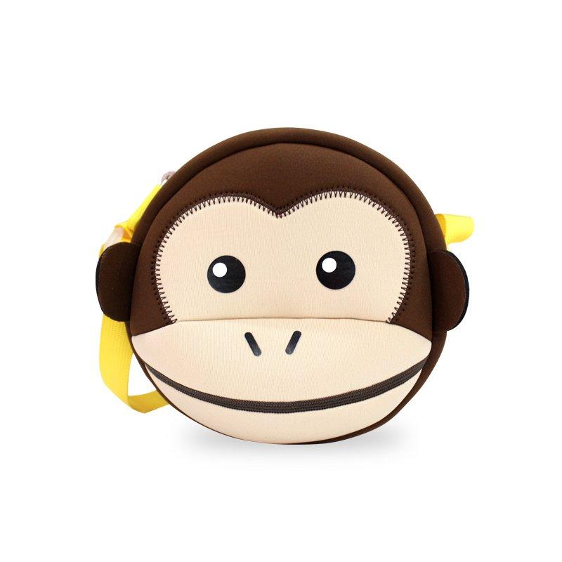 Nohoo Children Products-Nhk008 Lovelykidsmonkeystylemessengerbagswaterproofslingbag | Personalized-1