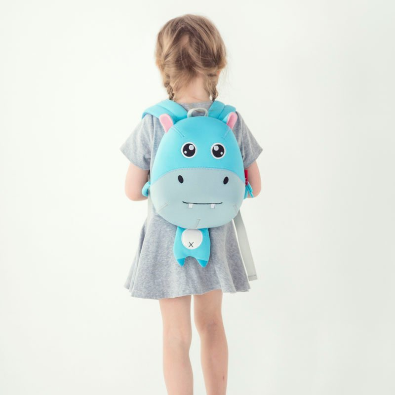 New design Hippo cartoon neoprene kids animal backpack for young children