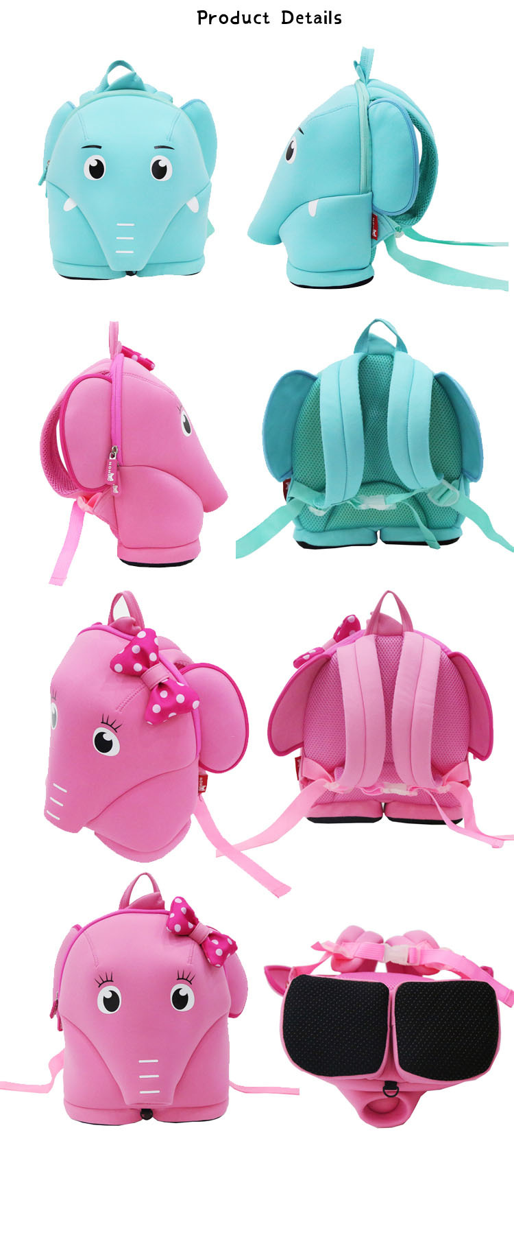 custom made backpacks for kids girls kindergarten Nohoo Children Products Brand herschel kids backpack