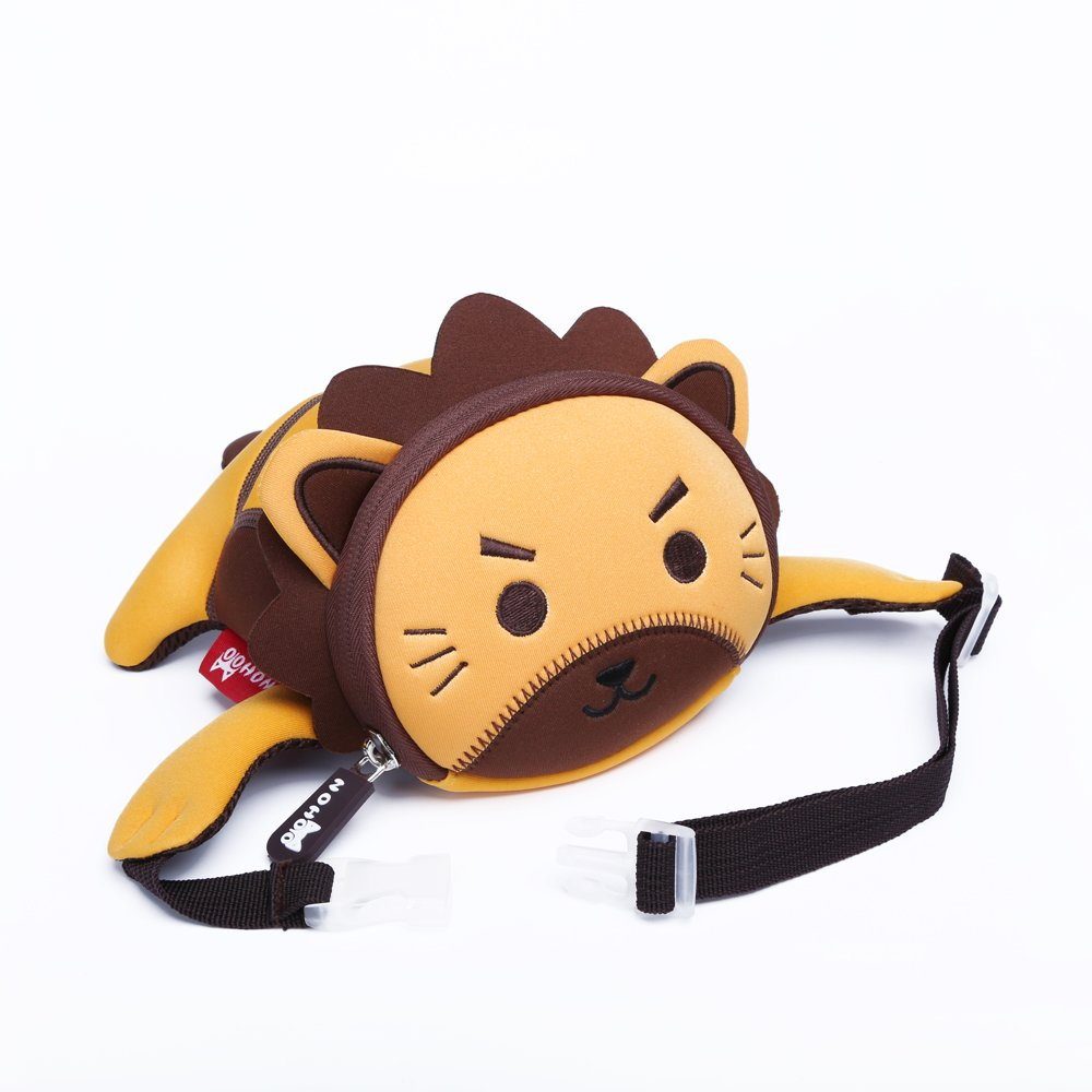 High quality waterproof mini neoprene kids waist bag lion