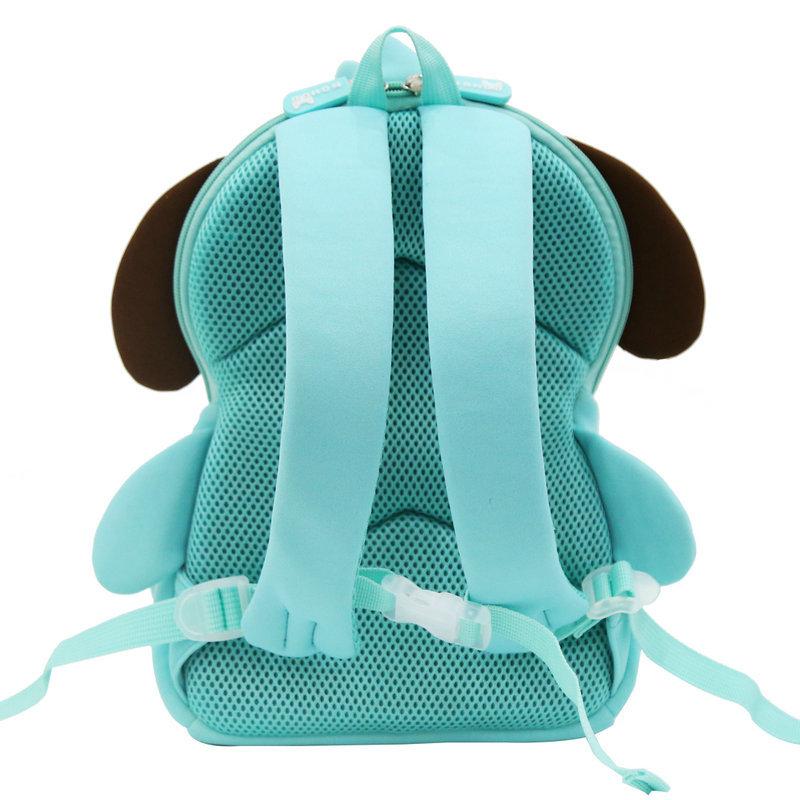 NH079 Hot sale soft cute blue dog kids zoo animal backpack for boys girls