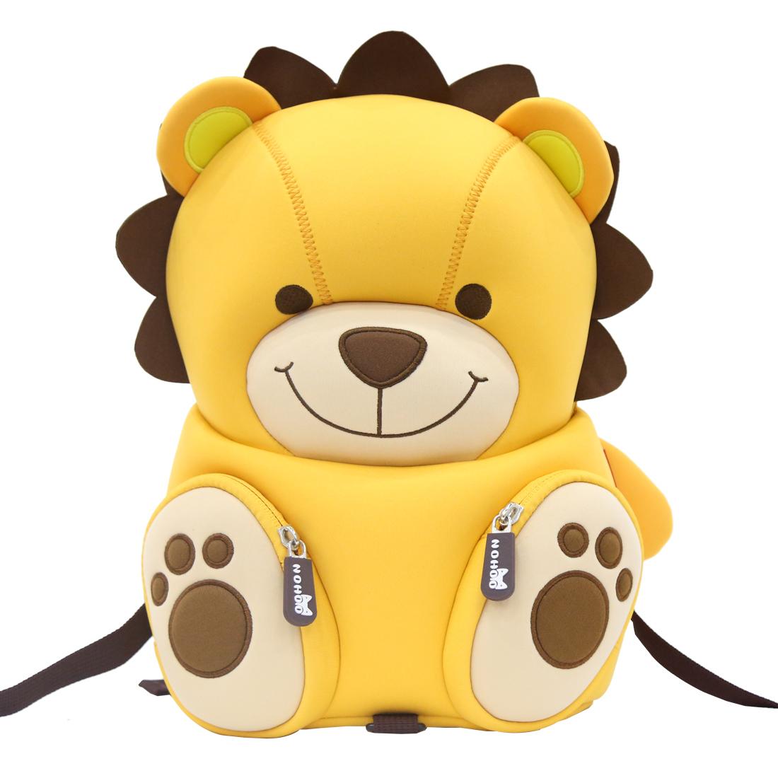 NH080 neoprene lovely lion cartoon book bag custom children rucksacks