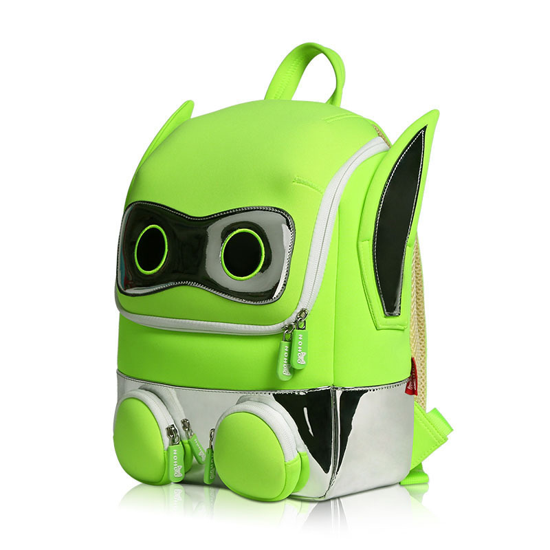 Primary 3D Students School bag neoprene safety Robot Backpack