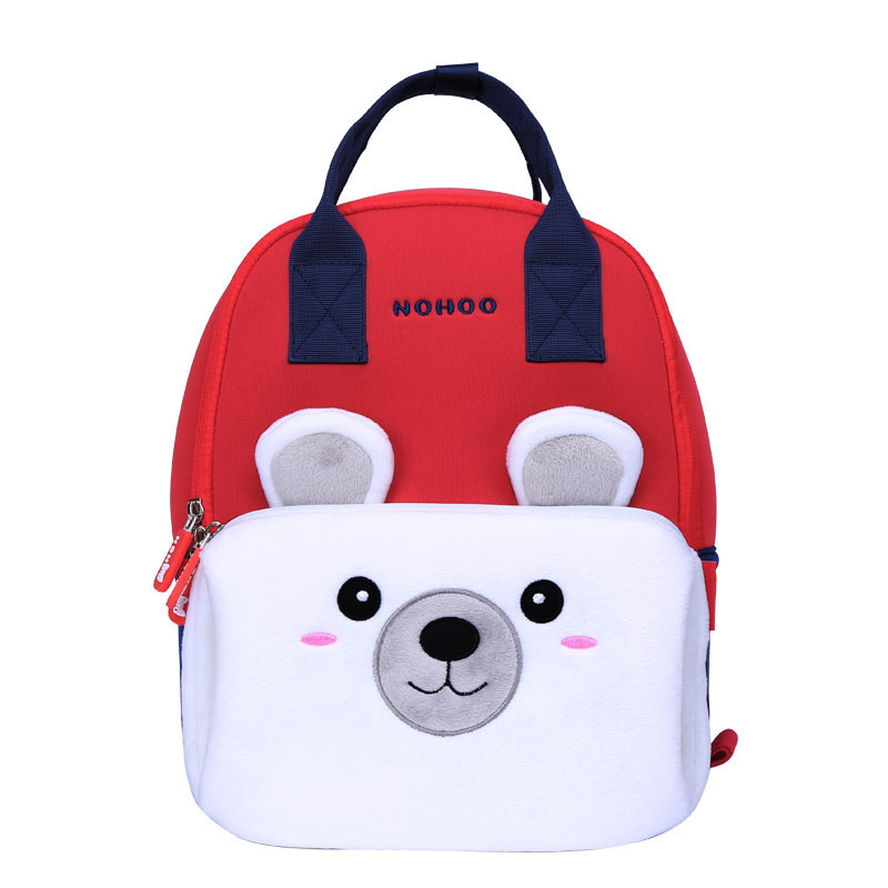 NHQ005 Parent-child Cartoon backpack Lightweight Zoo Animal backpack for family