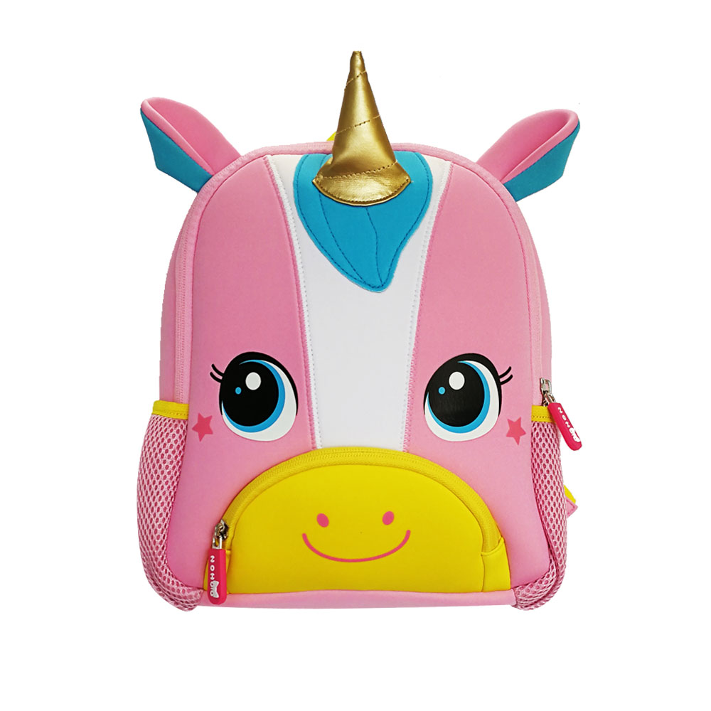 New design soft Children Backpacks 3D Animal unicorn kids bag