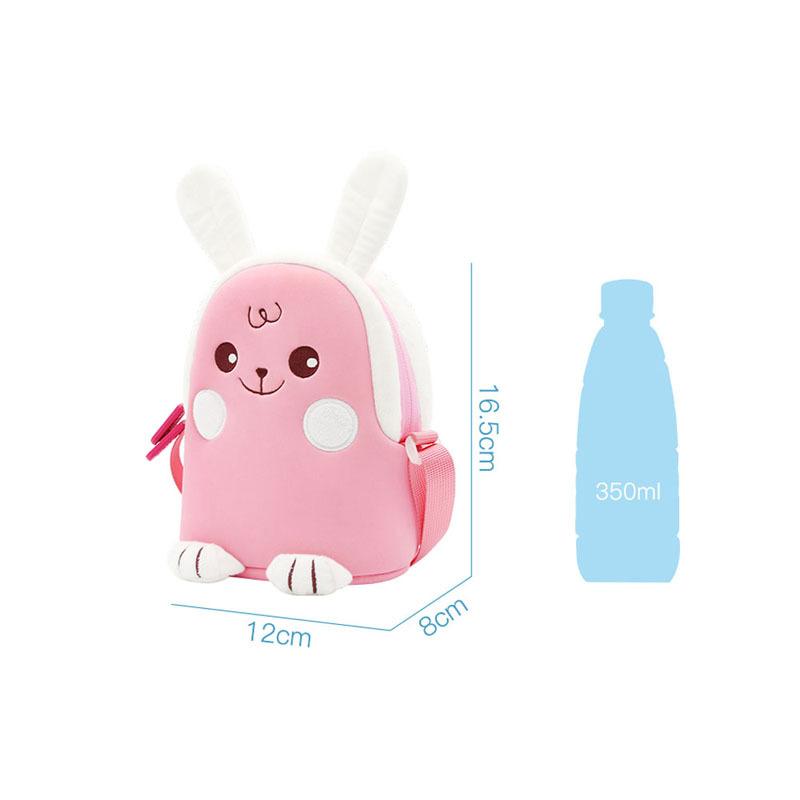 NHK013 New design pink rabbit lovely Cartoon animal Kids Messenger Bag For Girls