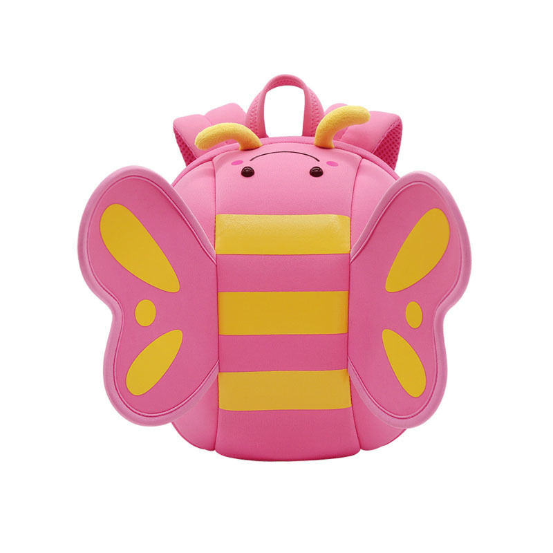 NHB125 butterfly lovely kindergarten neoprene Backpack for baby girls