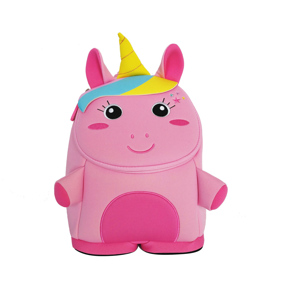 NHB084 Nohoo eco-friendly Unicorn preschool neoprene Backpack for kids
