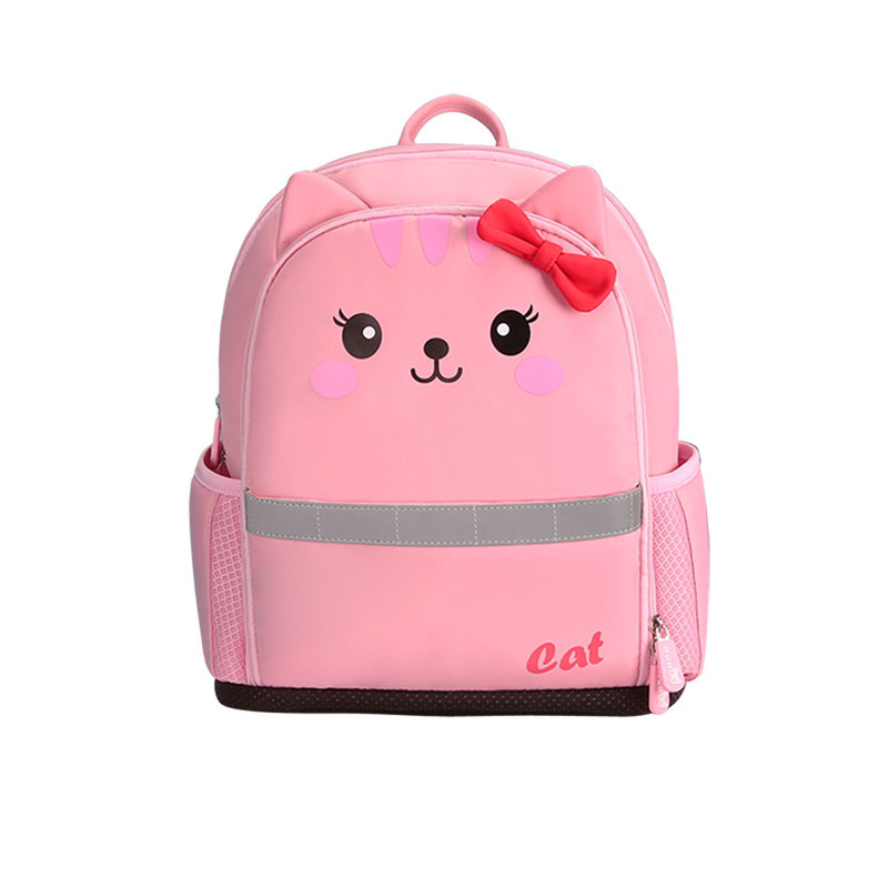 NHB245 Nylon lightweight lovely cat 3D polyester student school bag