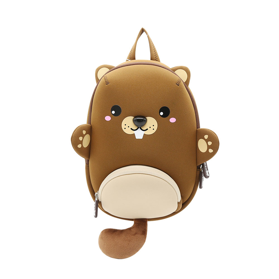 NHB208 new item brown bear Kids waterproof neoprene animal kindergarten backpack
