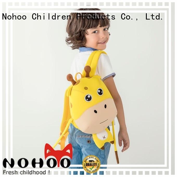 custom made backpacks for kids shape waterproof lightweight Nohoo Children Products Brand company